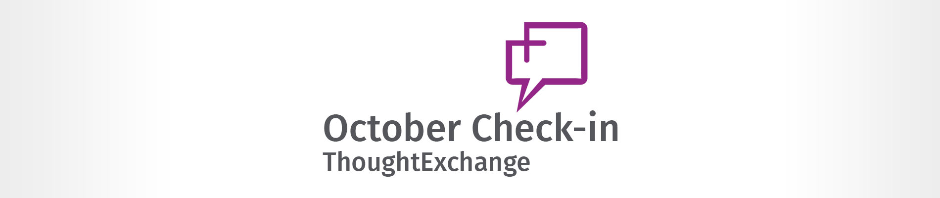 October Thought Exchange