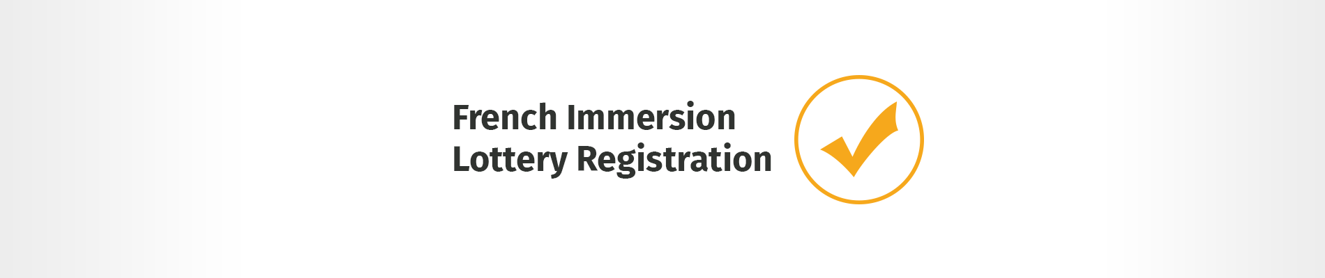 French Immersion Lottery